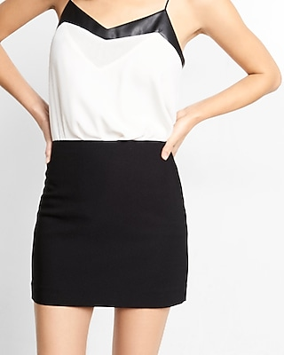 Express Womens Fitted Mini Skirt Black 8