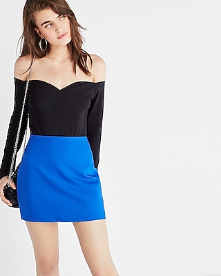 Express Womens Fitted Mini Skirt