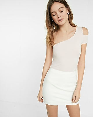 Express Womens Petite Fitted Mini Skirt
