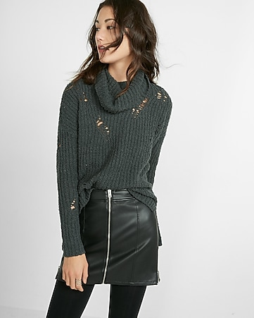 (minus the) leather moto mini skirt