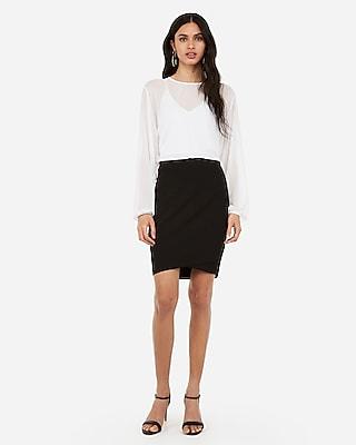 Express Womens Wrap Hem Pencil Skirt