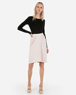 Express Womens Ruched Front Pencil Skirt