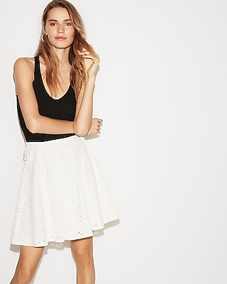 Express Womens Side Tie Flared Skirt