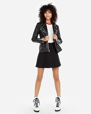 Express Womens High Waisted A-Line Mini Skirt