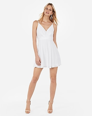 Express Womens Surplice Front Fit And Flare Dress