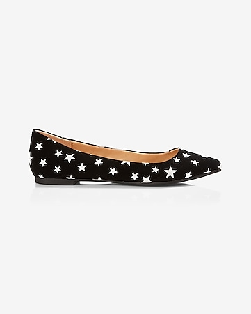 star pointed toe flat