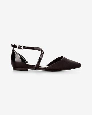 Crisscross Ankle Strap Flat