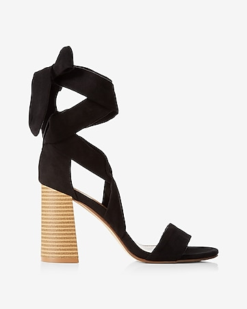 lace-up ballet tie heeled sandal