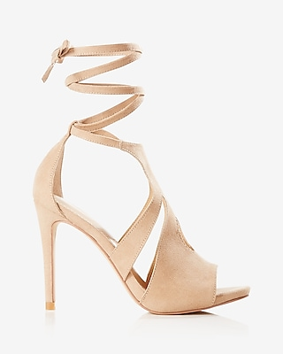 Express Womens Teardrop Cut-Out Lace-Up Pump