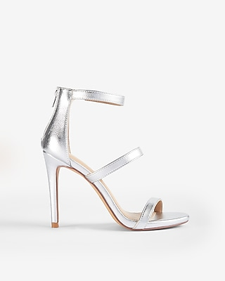 Express Womens Metallic Heeled Sandals