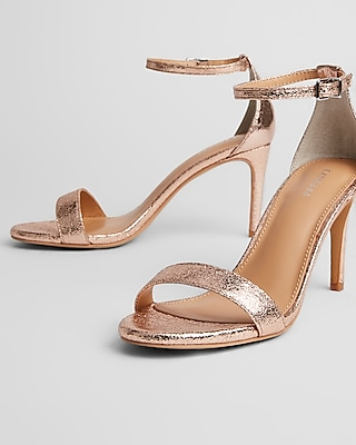 Express Womens Metallic Low Heeled Sandals