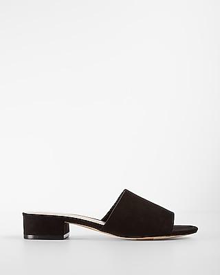 Low Heeled Slide Mules
