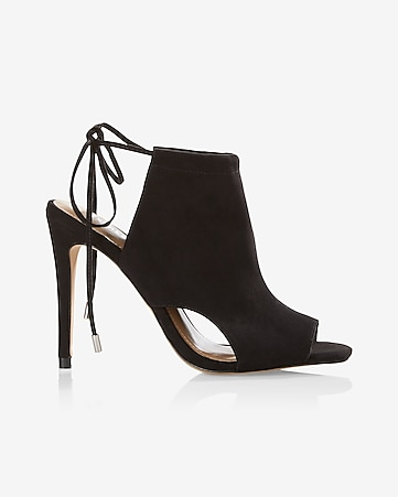 cut-out peep-toe heeled sandal