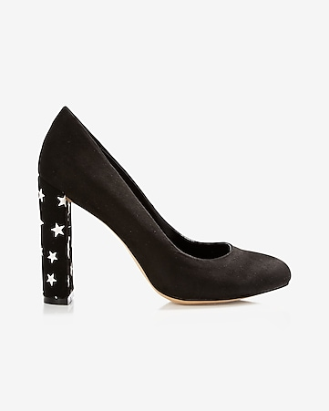 star thick heeled pump
