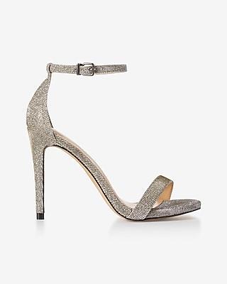 Express Womens Glitter Simple Heeled Sandal