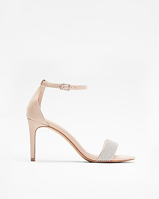 Express Womens Embellished Low Heeled Sandals