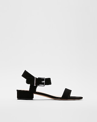 Express Womens Buckle Strap Micro Heel Sandals