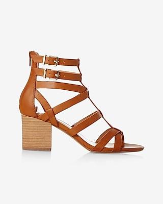 Express Womens Low Block Heel Gladiator Sandal