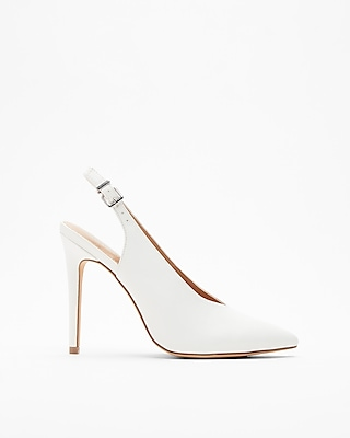 Express Womens Slingback High Heel Pumps