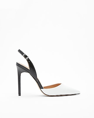 Express Womens Slingback Two-Tone Pumps