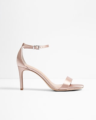 Satin Low Heeled Sandal