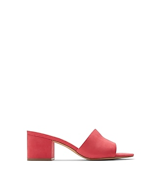 Express Womens Low Heeled Slide Mules