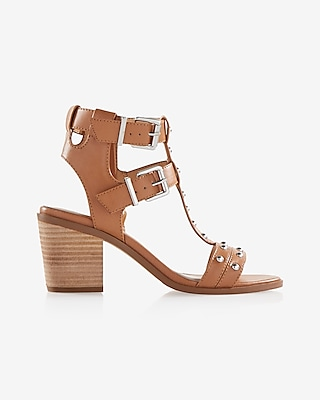 Express Womens Low Block Heel Strappy Sandal