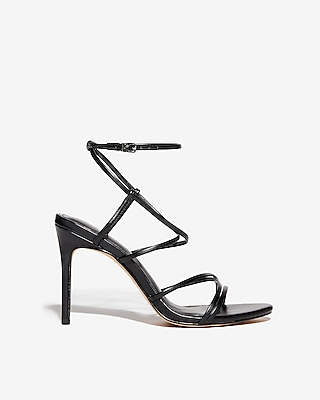Express Womens Strappy Heeled Sandals