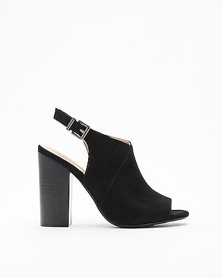 Express Womens Peep-Toe Booties