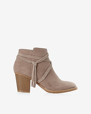 Express Womens Side Tie Ankle Booties