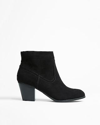 Express Womens Western Block Heel Ankle Booties
