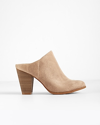 Express Womens Heeled Slide Mule Booties