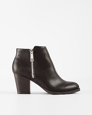 Express Womens Side Zip Ankle Booties