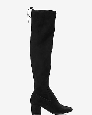 Express Womens Over The Knee Heeled Boot