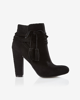 Express Womens Side Tassel Tie Bootie