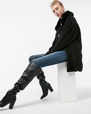 Express Womens Heeled Over The Knee Boots