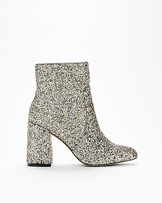 Express Womens Glitter Pointed Toe Boots