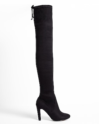 Express Womens Thigh High Stretch Boots