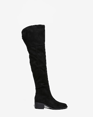 Express Womens Thigh High Block Heel Boots