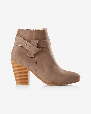 Express Womens Side Lasso Heeled Bootie