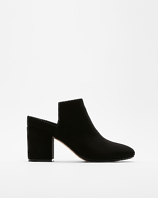 Express Womens Heeled Slide Booties