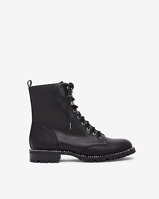Express Womens Rhinestone Lug Boots