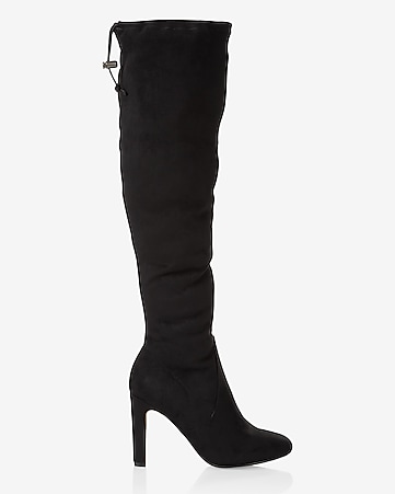 heeled knee high boot