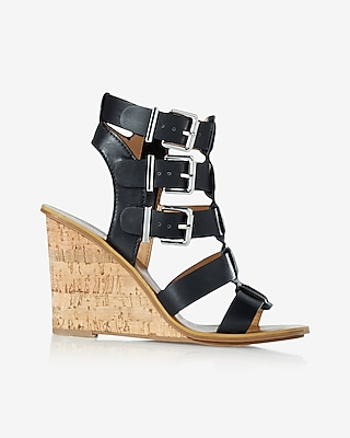Buckle Strap Wedge Sandal