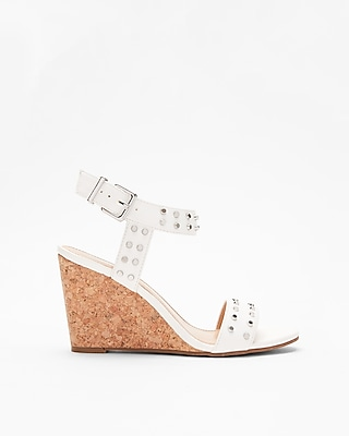 Express Womens Studded Dressy Wedge Sandals