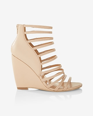 Express Womens Strappy Wedge Sandals