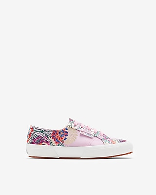 Express Womens Superga Embroidered Sneakers