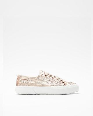 Express Womens Superga Iridescent Sequin Sneakers