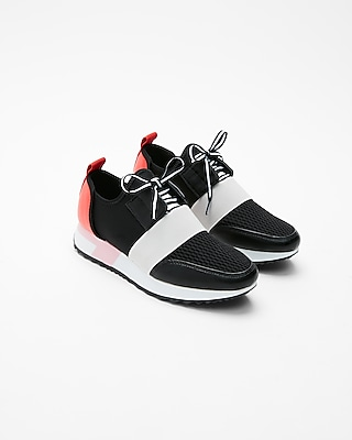 Express Womens Steve Madden Antics Sneakers Black Women's 6.5 Black 6.5