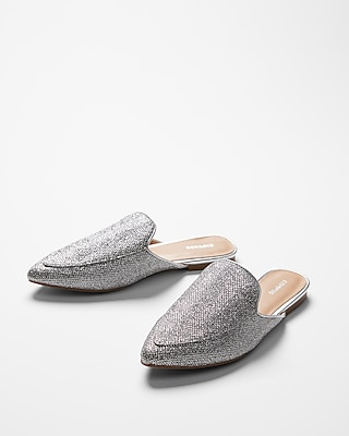 Express Womens Glitz Slide Loafers